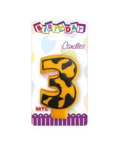"""3"""" Animal Print Candle #3"""