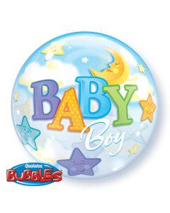 "22"" Baby Boy Moon & Stars Bubble"