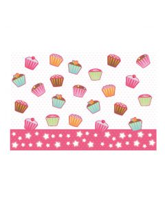 """Cup Cakes T/cover 54""""x72"""""""