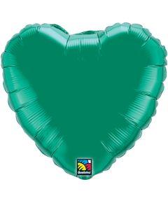 """9""""Emerald Green Heart"""