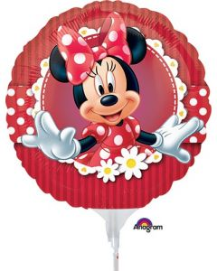 "9"" It's All About Minnie Inflated with Cup & Stick"