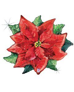 """34"""" Sparkling Christmas Poinsettia"""