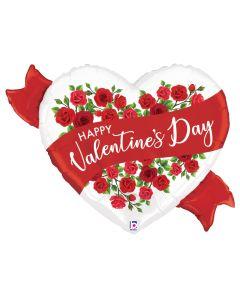 "37"" Satin Valentine Roses"