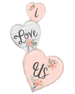"50"" Rustic Love Hearts"