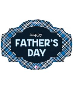 """32"""" Father's Day Plaid Marquee"""