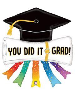 "44"" Grad Diploma & Streamers"