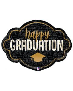 "36"" Black & Gold Grad Marquee"