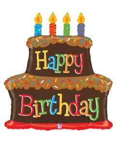 "37"" Chocolate Cake & Candles"