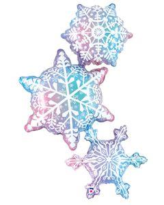 "50"" Snowflake Trio"