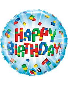 "18"" Birthday Color Blocks Pkg"