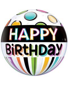"""22"""" Birthday Dots Bubble"""