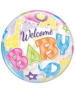 "22"" Welcome Baby Animals Bubble"