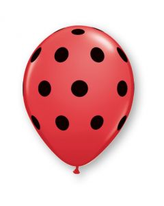 "5"" Big Polka Dots Red 100ct"