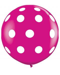 3' Big Polka Dots Wild Berry 1ct
