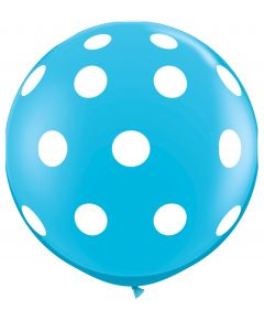 3' Big Polka Dots Robin's Egg Blue 1ct