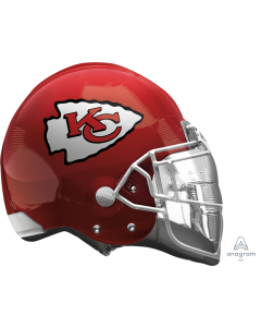 "21"" Kansas City Chiefs Helmet Flat"