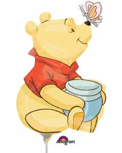"14"" Pooh Full Body Inflated with Cup & Stick"