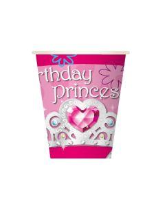9oz Birthday Princess Cups 8ct