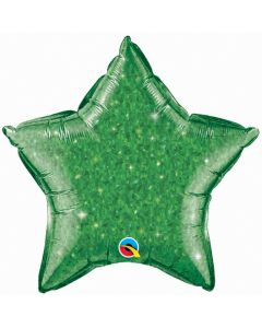 """20"""" Green Crystal-Graphic Star--"""