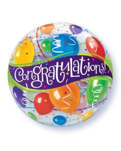 """22"""" Congrats Balloons Bubble"""