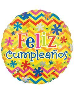 """18"""" Feliz Cumpleanos Bright"""