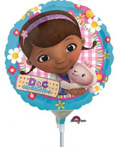 "9"" Doc McStuffins Inflated with Cup & Stick"