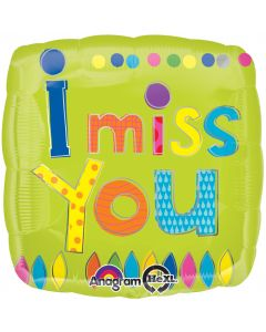 "18"" I Miss You Patchwork Pkg"