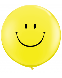 3' Smile Face Yellow 1ct