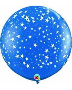 3' Sapphire Blue Stars Around 1ct