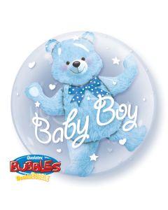 "24"" Baby Blue Bear Double Bubble"