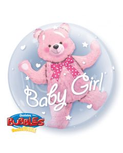 """24"""" Baby Pink Bear Double Bubble"""