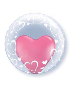 "24"" Stylish Hearts Deco Bubble (not self sealing)"