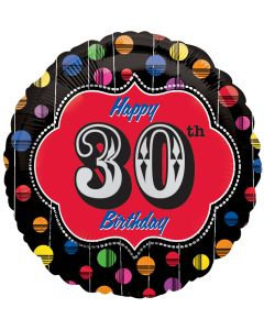 """18"""" Bright Dot B'day Marquee 30"""