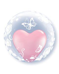 "24"" Elegant Roses Butterflies Deco Bubble (not self sealing)"