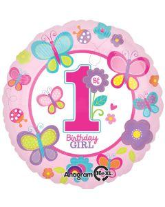 """18"""" 1st B'day Girl Pink Pkg"""