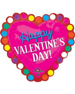 "29"" Valentine Hearts & Color Dots"