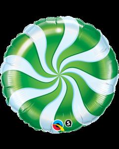 "18"" Candy Swirls Green Pkg"