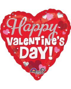 """32"""" Silver Hearts Valentine"""