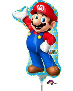 "14"" Super Mario Bros. Inflated with Cup & Stick"