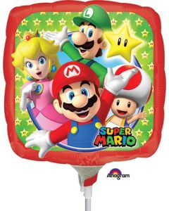 "9"" Super Mario Bros Inflated with Cup & Stick"