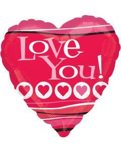 """18"""" Fun Hearts Love--"""