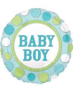 """18"""" Baby Boy Polka Dots"""