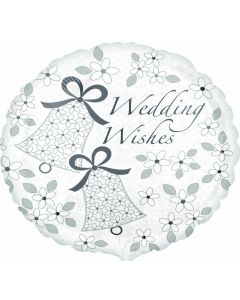 "18"" Silver Wedding Wishes"