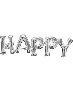 "30"" 'Happy' in Silver"