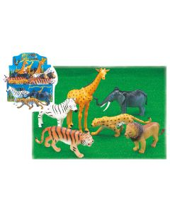 "8""-12"" Jungle Animals 1ct 12pc min."