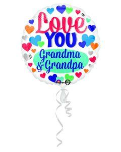 "18"" Love Grandma & Grandpa"