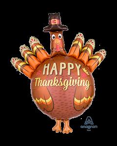 "38"" Thanksgiving Pilgrim Turkey"
