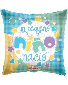 "9"" Un Pequeno Nino Nacio Inflated with Cup & Stick"