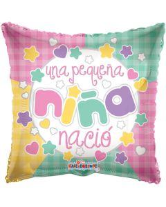 "9"" Una Pequena Nina Nacio Inflated with Cup & Stick"
