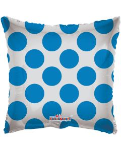 "18"" Blue Circles Square"